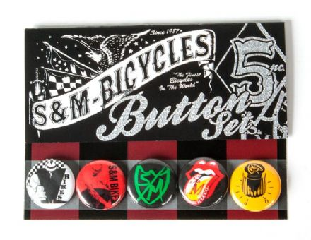 "S&M 1"" Buttons 5 Pack"